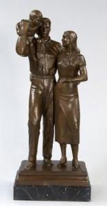 """Bronze, 27""""x5""""x4"""", 1933"""