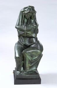 """Bronze 25""""x9""""x10"""" 1968"""